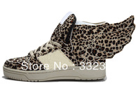 Free Shipping Most Popular Jeremy Scott Wings 2.0 Leopard Shoes JS WIngs Leopard Shoes
