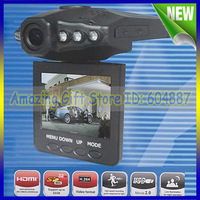 Car video recorder with 6 IR LED and 90 degree view angle screen can rotated 270 degree Freeshipping H198