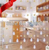 Imitation crystal bead curtain light transparent string curtains handmade bead curtain