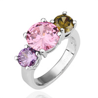 Free shipping 18KGP R201 18K Gold Plated Ring Nickel Free K Golden Plating Platinum Rhinestone Austrian Crystal