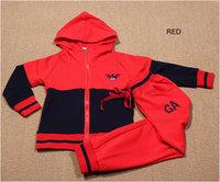 Boy's fashion clothing set hoodies and long pant 2pcs 1 set, sprotsuit children's tracksuit ,freeshipping