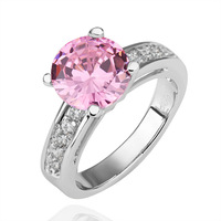 18K Rose/White Gold Plated Austrian Crystals Jewelry Full Sizes Wholesale Fashion Design Engagement Finger Rings R194