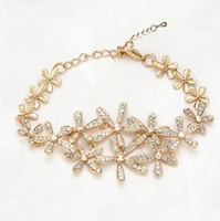 Wholesale 18K Gold Plated Crystal Flowers Bracelet Austrian Crystal Bracelet Fashion Jewelry MG1270990493
