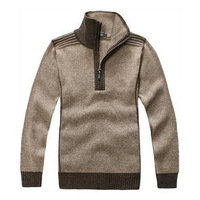2013 Free Shipping men  Leisure Whorl Half Zip Collar sweater sweater  69