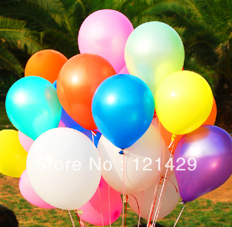 Free ship High Quality 100 pcs/lot/11-inch/Round/pearl/party/220g/13 color/balloonwholesale/even/ball/ballon/wedding decoration(China (Mainland))