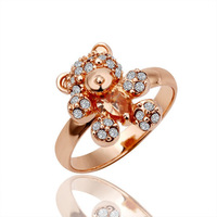 18K gold plated ring fashion  Austrian crystals italina ring,Nickle  antiallergic factory prices jij tyy GPR011