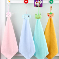 Cartoon clean towel hanging cartoon hand towel mini square hand towel car wash cloth small facecloth
