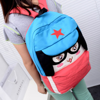 Proviedes preppy style zipper cartoon candy cell phone pocket three-color student school bag backpack