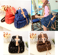 Women Girl Vintage Cute Flower Floral Bag Schoolbag Travel Bookbag Backpack