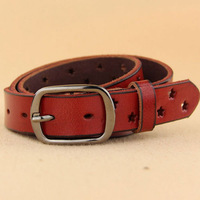 2014 Fashion Cowskin Leather Woen Brief Cowhide Genuine Strap Buckle Casual High quality Belt