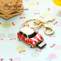 Usb flash drive girls 32g keychain mini car personalized gifts birthday