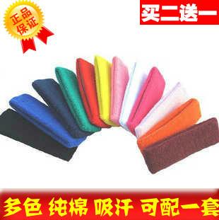 Sports headband tennis ball badminton basketball 100% cotton sweat absorbing ribbon customize pattern adult headband