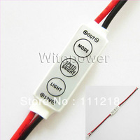 Free shipping Wireless Dimmer Remote Controller Single Color LED Strip Light DC 12-24V 20A