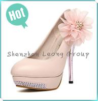 NEW Luxury Sexy Romantic Flower Women's Platform Pumps Stilettos Wedding High Heels Shoes Free Shipping
