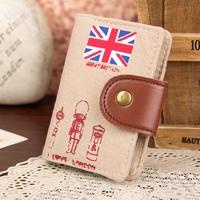 Free shipping Free shipping Marine card holder canvas card case cartoon fashion 50g
