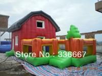 Sale Children's welcome outdoor entertainment equipment inflatable trampoline bed commercial grade PVC tarpaulin