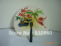 100pcs/lot free shipping Chinese paper folding fan assorted colors