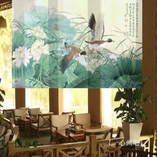 230 centímetros * 150 centímetros custom made modernos rústicos divisórias quarto estilo rolo sala tons pendurar telas frete grátis(China (Mainland))