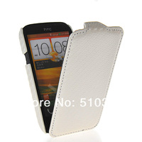 Wholesale and retail CARBON FIBER SKIN FLIP HARD LEATHER POUCH CASE COVER FOR HTC DESIRE V T328W FREE SHIPPING