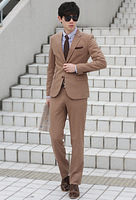 Men's clothing 2013 slim suits suit casual solid color trend