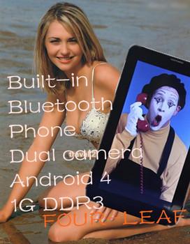 New listing 7 inch tablet pcs 2g sim card slot phone call Android 4.0 Allwinner A13 CPU 1GB DDR3 Bluetooth WiFi    OEM-Z4