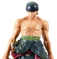 "Free Shipping New 10"" One Piece Roronoa Zoro Swordsmen Article After 2 Years PVC Action Figure Collection Model Toy"