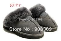 int'l Brand 5125! Genuine sheepskin Wool lining Winter Warm platform Indoor slippers for women,drop ship free shipping hot sale