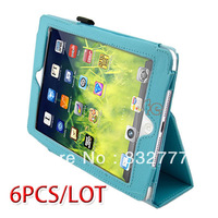 *6PCS/LOT New Protective Stand Folio Wallet Cover Foldable Leather Case For Apple iPad Mini 10914 10916