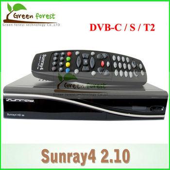 Satellite TV Receiver Sunray 800 se sr4 Rev D6 Sunray SR4 800SE with Triple tuner DVB S(S2)/C/T Enigma2 WIF