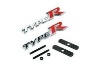 free shipping 10pcs 3D TYPE R grill emblem TYPER car stick car badge RACING CAR BADGE EMBLEM letter 0STICKER 15cm x 3cm