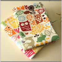 owl rabbit  width148cm handmade diy fabric linen cotton canvas fabric by the meter