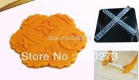 Free shipping 1PCS Transparent Embossing Rolling Pins sugar craft tools Fondant Cake Decoration A187