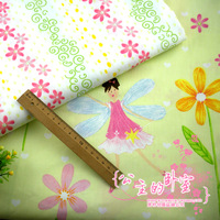 Ab - slanting 100% stripe cotton cloth - bedding fabric - baby clothing fabric flowers or angel meter