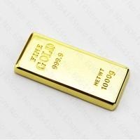 Retail genuine 2GB 4GB 8GB 16GB 32GB golden bar shape gift USB Flash drive pen drive usb memory flash Drop Free shipping