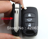 Brand New Uncut Blade 3 Buttons Car Flip Remote Key Shell Case Cover For Kia K2 + HK Post Free Shipping