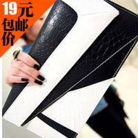 2013 women's handbag serpentine pattern color block day clutch envelope messenger bag vintage small bags