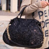 2013 women's handbag summer fashion paillette chain formal women's handbag shoulder bag free shipping