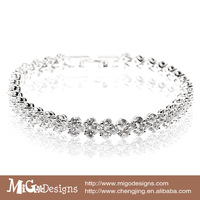 Migodesigns 2013 new arrival luxury Jewelry top quality 18k gold AAA zircon crystal stone pave link chain bracelet
