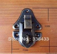 35 * 50MM antique wooden gift box hasp lock buckle dark buckles Stud tin trunk