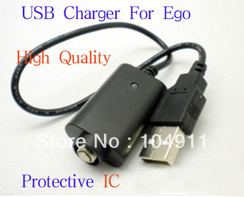 Ego USB charger for ego,ego-t,ego-w battery,e-cigarette Protective IC 10pcs/lots(China (Mainland))