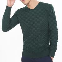 Men dark grey long-sleeve sweater basic shirt sweater spring sweater men's clothing