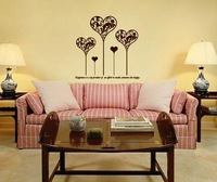 Heart patern wall Sticker Decal, free shipping  Removable Waterpoof Wall Sticker, home decor