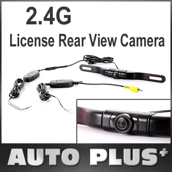 2.4G Wireless Car Auto License Rear View Reverse Backup Camera Night Vision 480TVL Vehicle Parking Monitor System Free Shipping(China (Mainland))