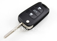 3 Buttons Flip Folding Remote Key Shell Case Replacement for Hyundai I30 + Free Shippping