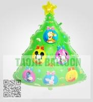 Free shipping Christmas trees balloon,foil balloon,cartoon design
