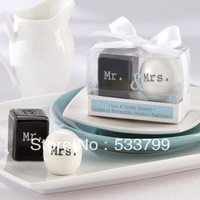 Unique Styles Mr&Mrs Salt & Pepper Shakers Event Wedding Party Favors+5sets/lot+FREE SHIPPING+Suitable for Sample Order