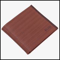Brown genuine leather  wallets for men