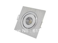 Free shipping 10pcs/lot 1w Square LED Downlight Ceiling Lamp Pure/Warm White Spot Lighting
