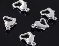 100pcs  High Quality Necklace Clasp Strong 316L Stainless Steel Charm Fashion Heart Shape clasps FREE SHIPPING