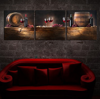3 Pieces Free Shipping Hot Sell Modern Wall Painting red wine Wall Art Picture Paint on Canvas Prints